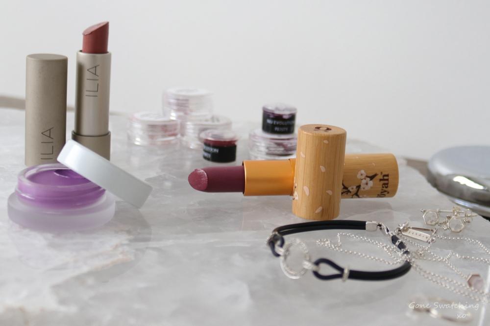 9 Organic, Natural & Non-toxic Purple lipsticks. Gone Swatching xo