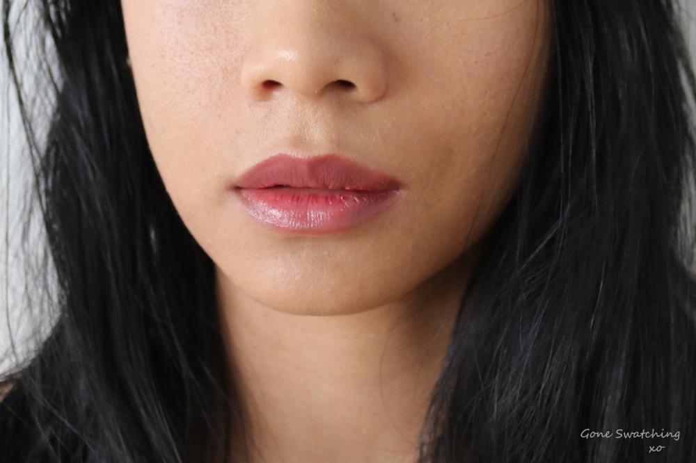 Elate Beauty Natural Lipstick Lip Swatch Vivacious. Gone Swatching xo