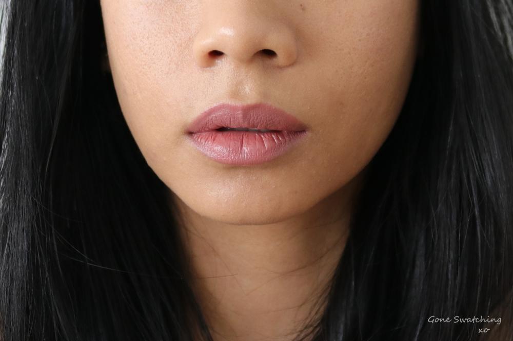 Ilia Beauty Colour Block High Impact Lipstick Lip Swatch Amberlight. Gone Swatching xo