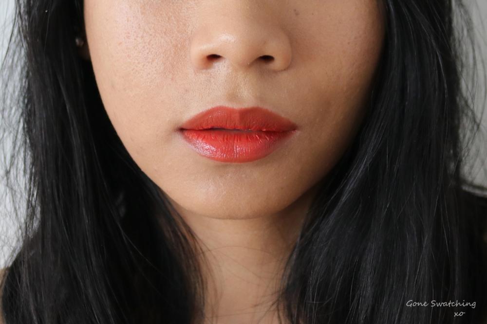 Elate Beauty Natural Lipstick Lip Swatch Blaze. Gone Swatching xo