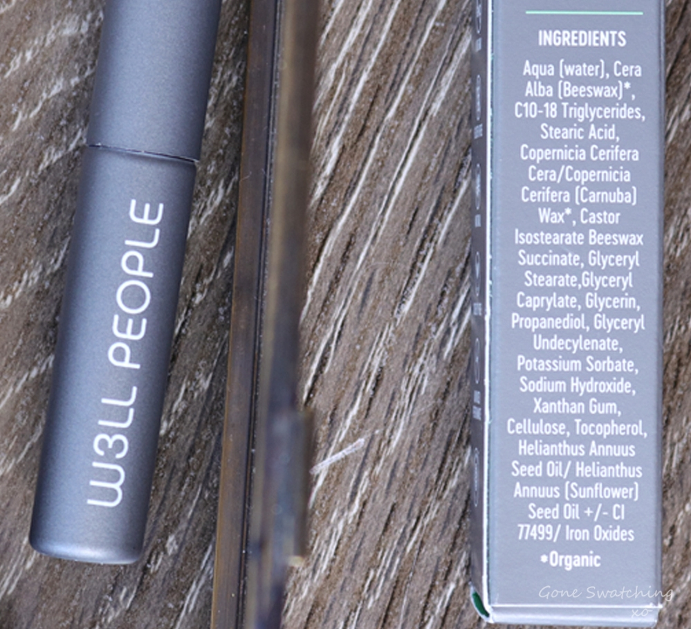 W3LL People Expressionist Volumizing Black Mascara Review & Swatches. Ingredients. Green Beauty Blogger Gone Swatching xo