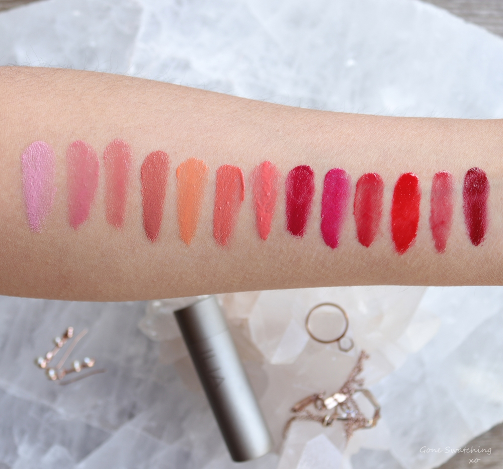 Ilia Beauty Tinted Lip conditioner review & arm swatches. Gone Swatching xo