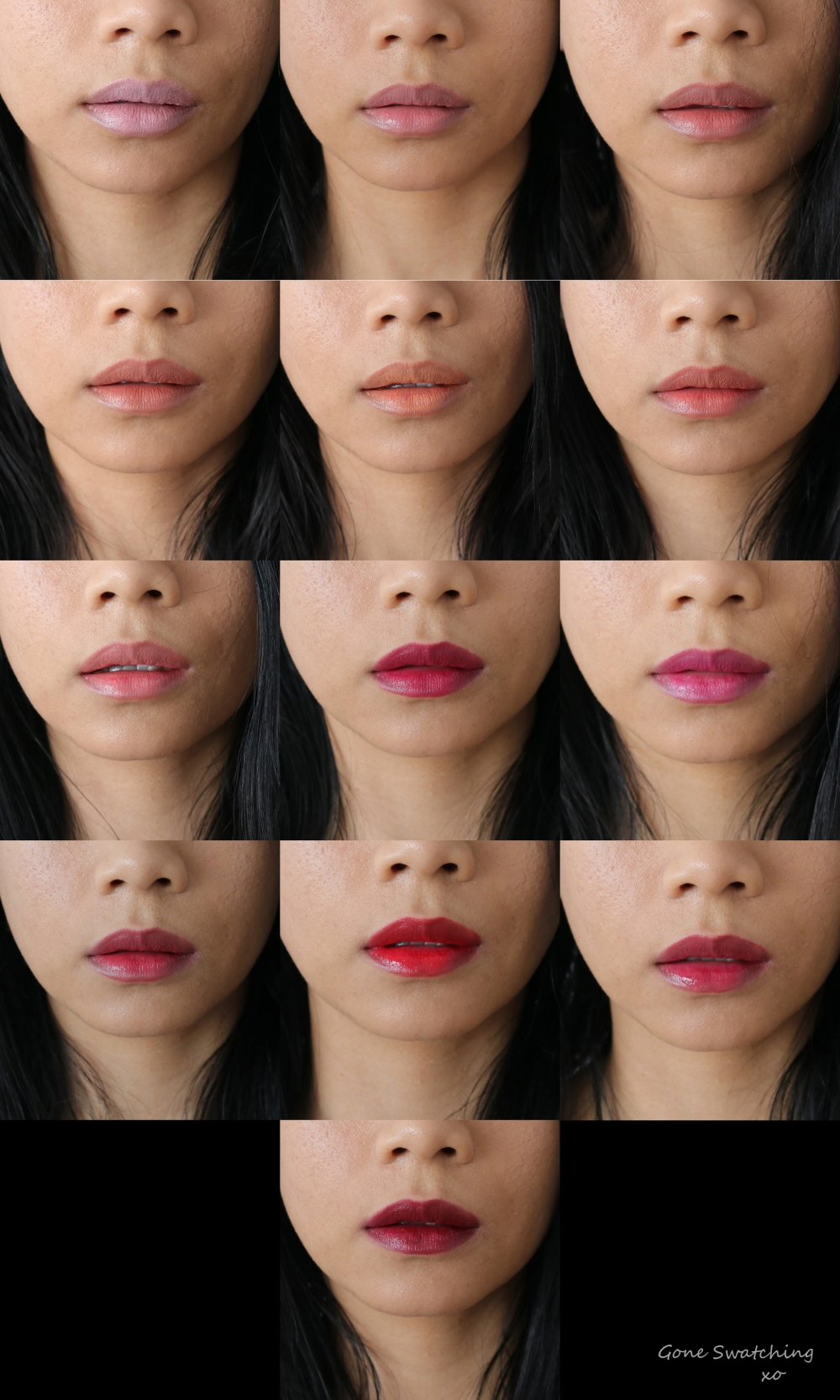 Ilia Beauty Tinted Lip conditioner. Shell Shock, Pink Moon, Jump, Bang Bang, Crimson Clover, Arabian Nights & Lust for Life. Gone Swatching xo