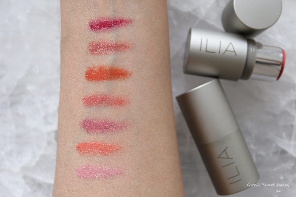 Ilia Multi-Stick Review & Arm Swatches. Tenderly, I Put a Spell On You, At Last, All of Me, Cheek to Cheek, Lady Bird & A Fine Romance. Gone Swatching xo