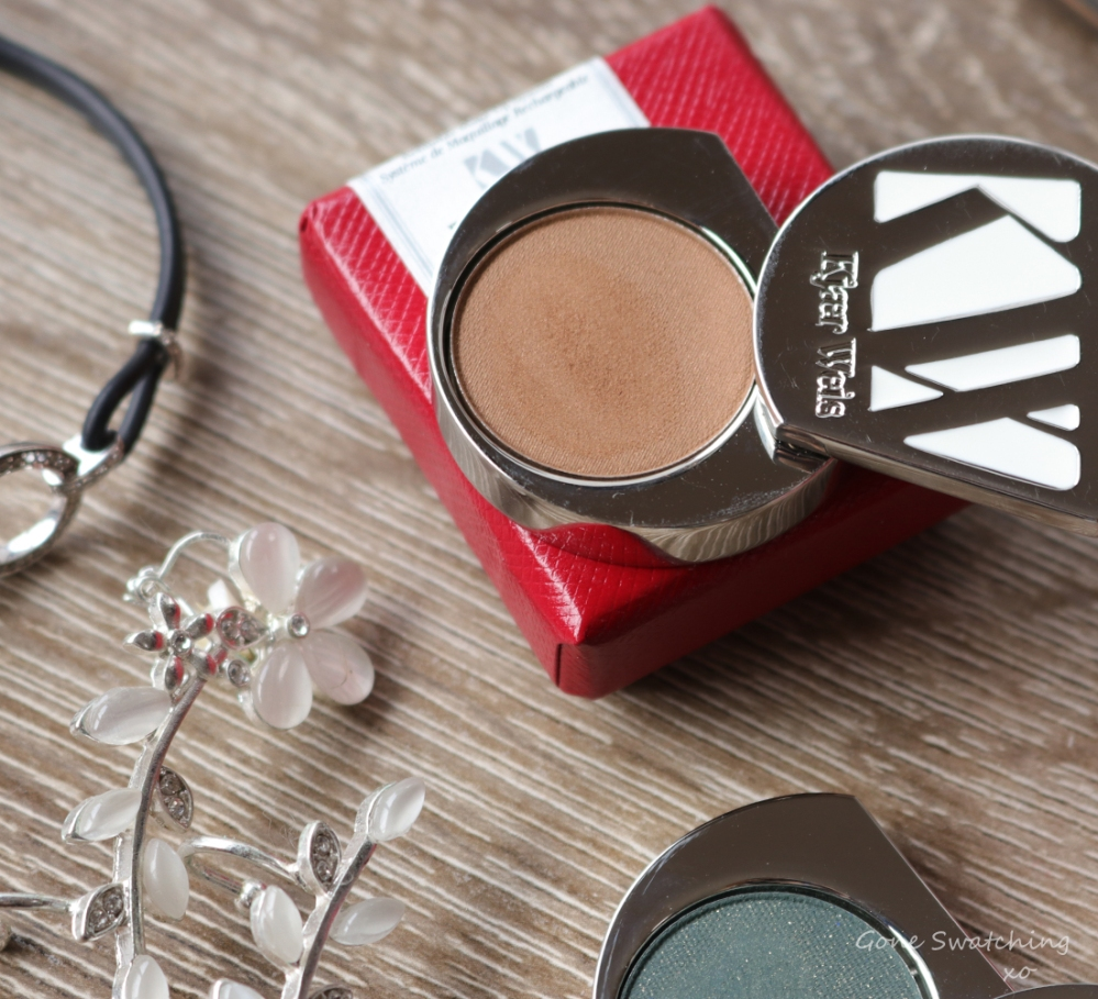 Kjaer Weis Eyeshadow Review & Swatches. Magnetic-Brown Gold. Gone Swatching xo