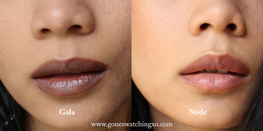 Ere Perez Olive Oil Lipstick & Rosehip Bar Swatches. Gala, Nude. Australian Organic Beauty Blogger. Gone Swatching xo