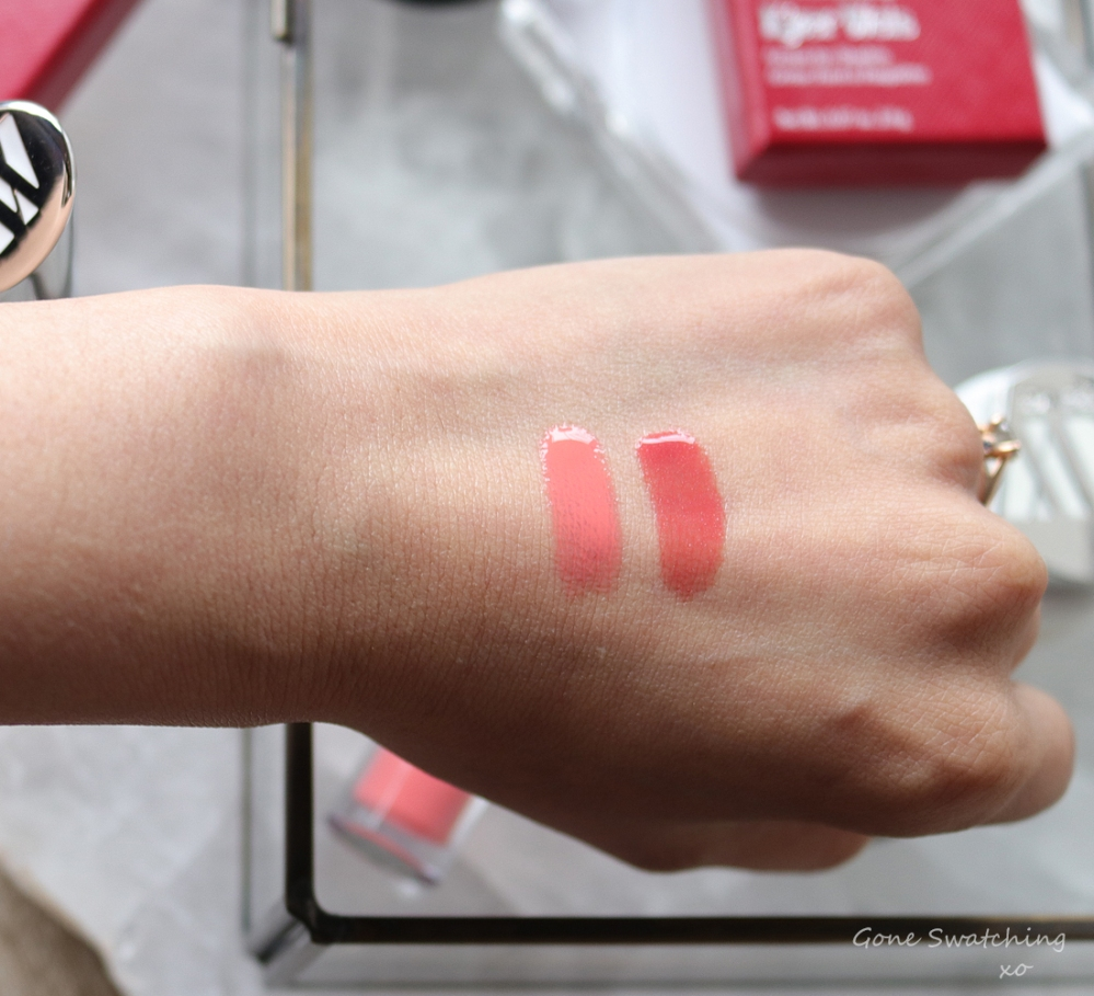Kjaer Weis Cream Lipgloss Review & Hand Swatches. Courage & Fascination. Asian Australian Organic Beauty Blogger Gone Swatching xo