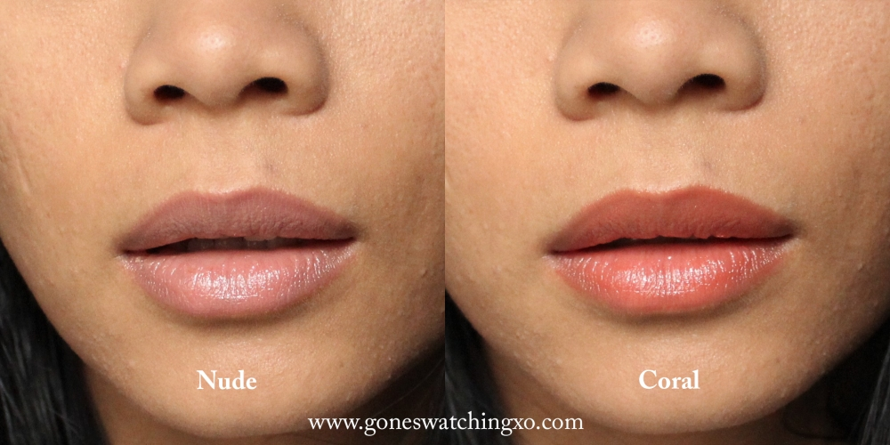 W3LL People Nudist Colour Balm Swatches. Nude & Coral. Oraganic Beauty Blogger Gone Swatching xo