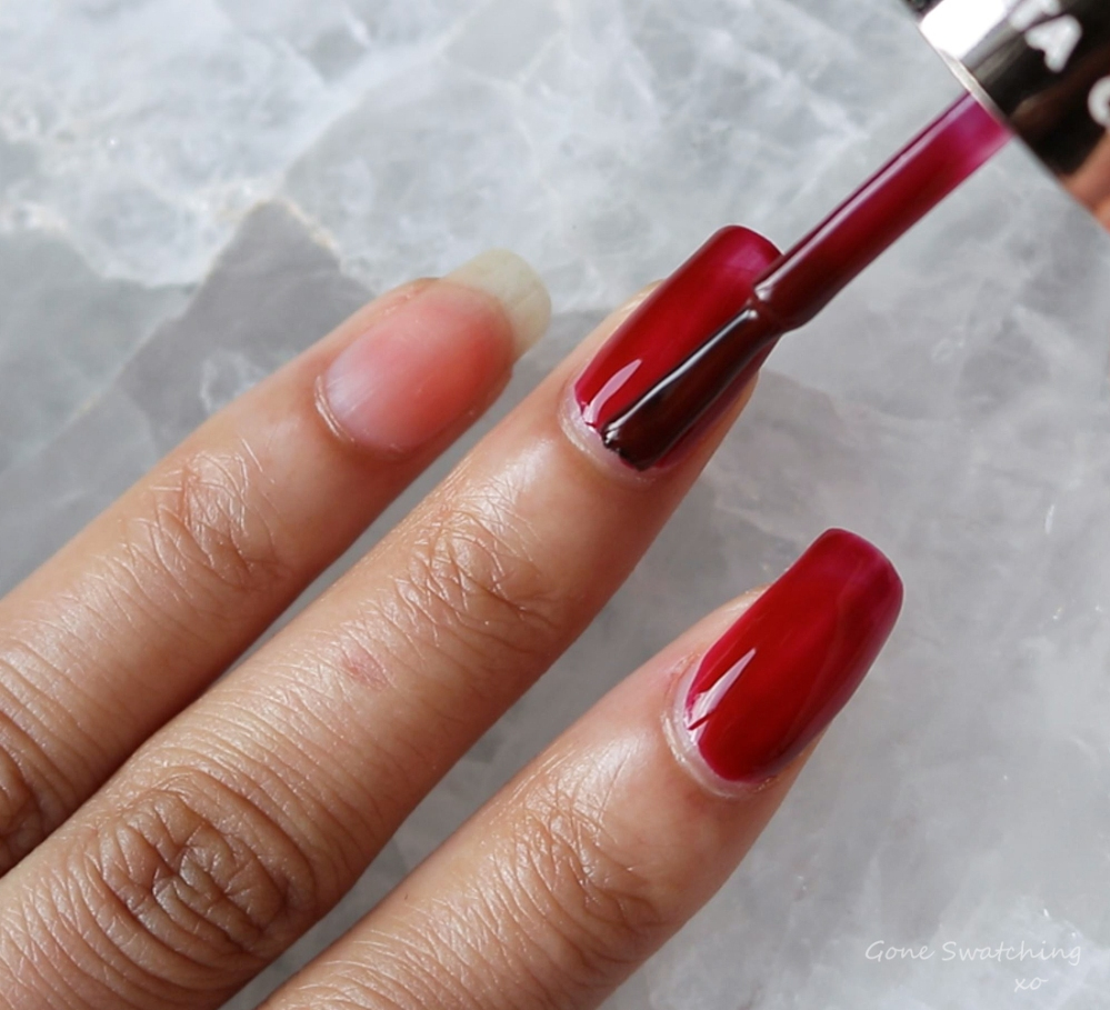 Carlo Rista Water Based Non-Toxic Peelable, Odourless Nail Polish review & Swatches. Brick Red 03. Australian, Asian Green Beauty Blogger Gone Swatching xo