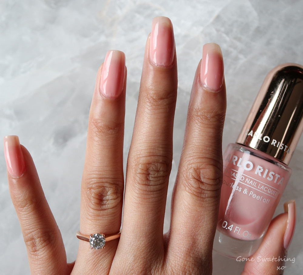 Carlo Rista Water Based Peelable, Odourless Nail Polish review & Swatches. Lavender Blush 18. Australian, Asian Green Beauty Blogger Gone Swatching xo