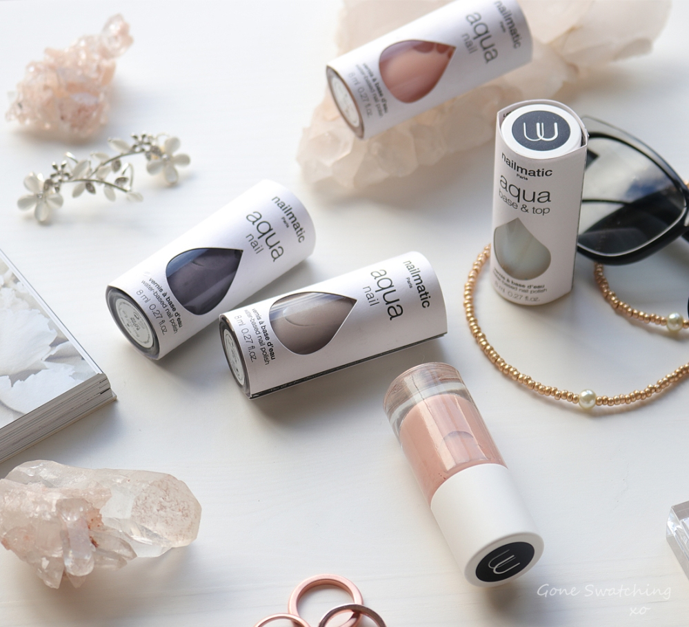 Nailmatic Aqua Nail Polish Review & Swatches. Water based, odour free Nail Polish. Green Beauty Blogger Gone Swatching xo