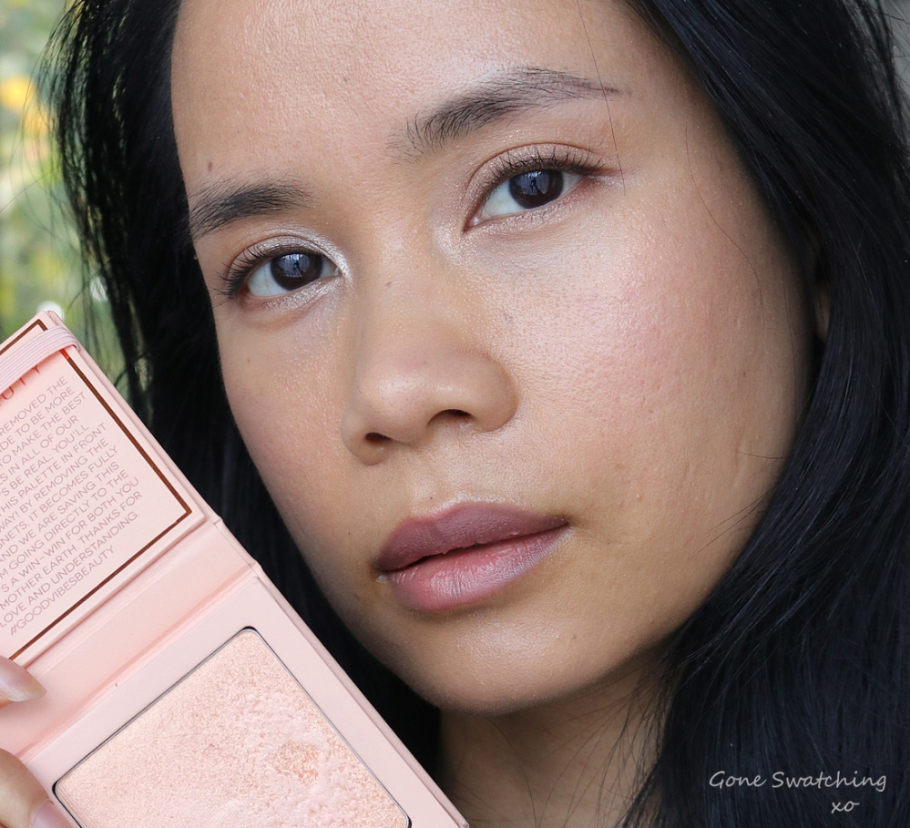 Athr Beauty Supernova Crushed Pink Diamond Highlighter Swatches on Asian skin. Gone Swatching xo