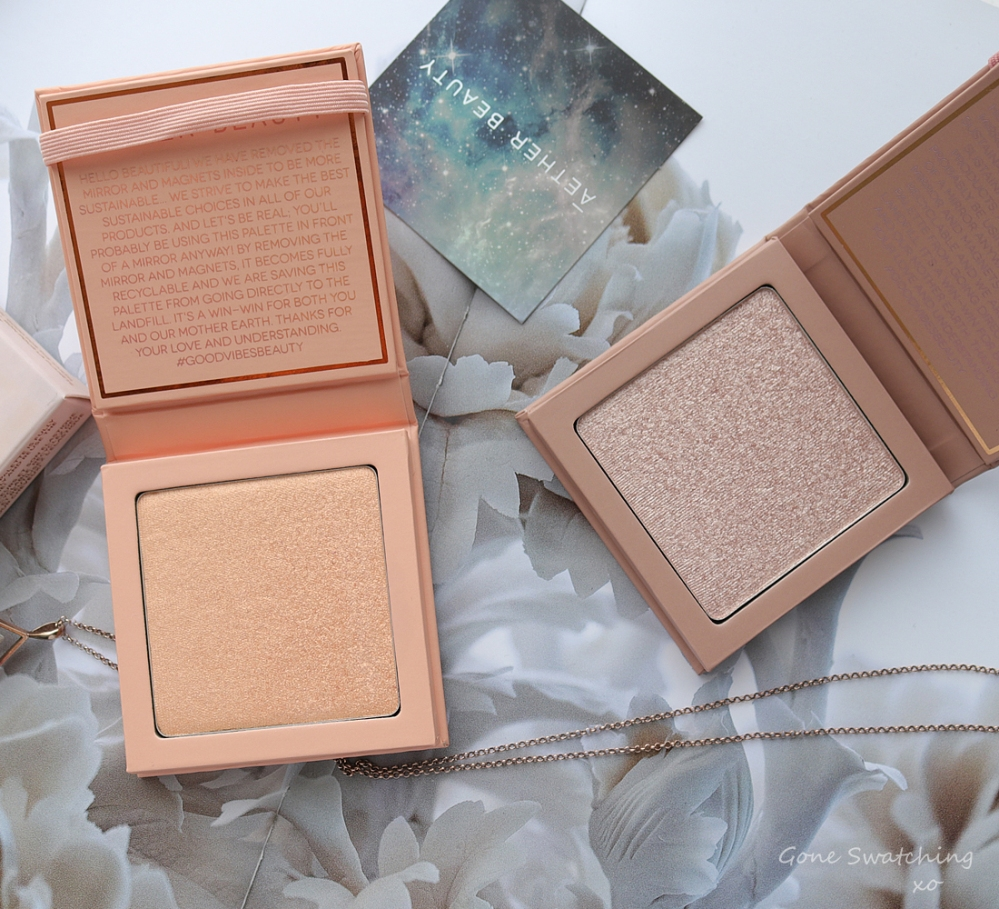 Athr Beauty Supernova Crushed Pure & Pink Diamond Highlighter Swatches & Review. Crystal Makeup. Natural Beauty Blogger. Gone Swatching xo