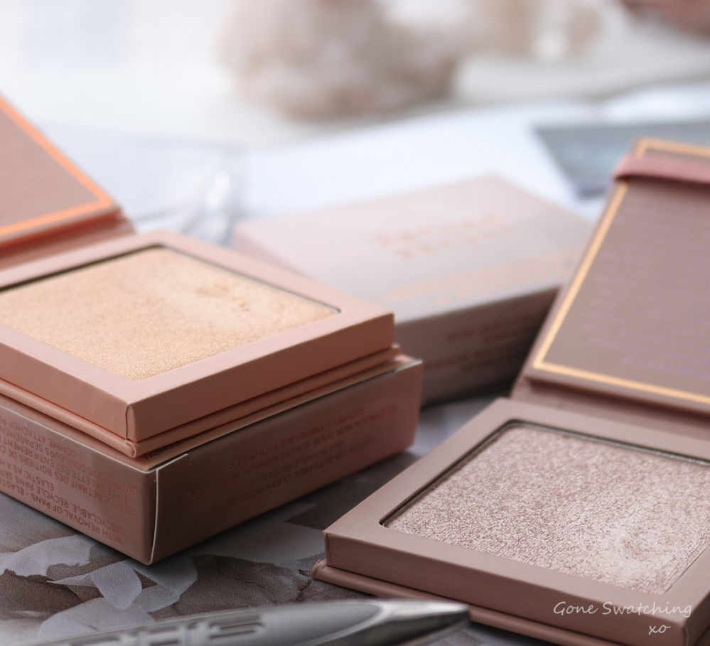 Athr Beauty Supernova Crushed Pure & Pink Diamond Highlighter Swatches & Review. Green Beauty Blogger Gone Swatching xo