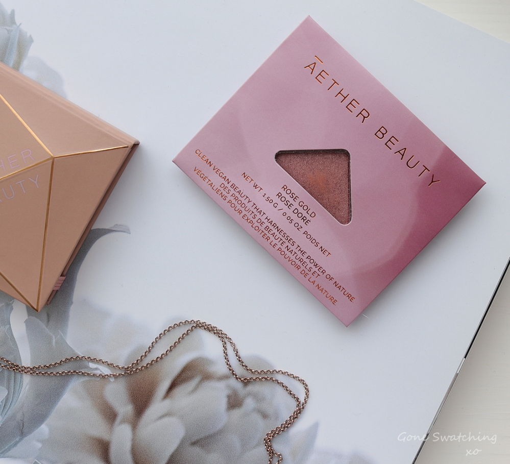 Athr Beauty Sustainable & Low Waste Beauty. Rose Gold Eyeshadow Swatches & Review. Gone Swatching xo
