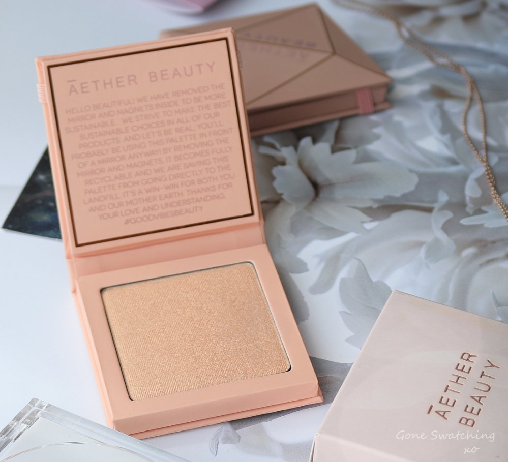 Athr Beauty Sustainable & Low Waste Beauty. Supernova Crushed Pink Diamond Highlighter Swatches & Review. Gone Swatching xo