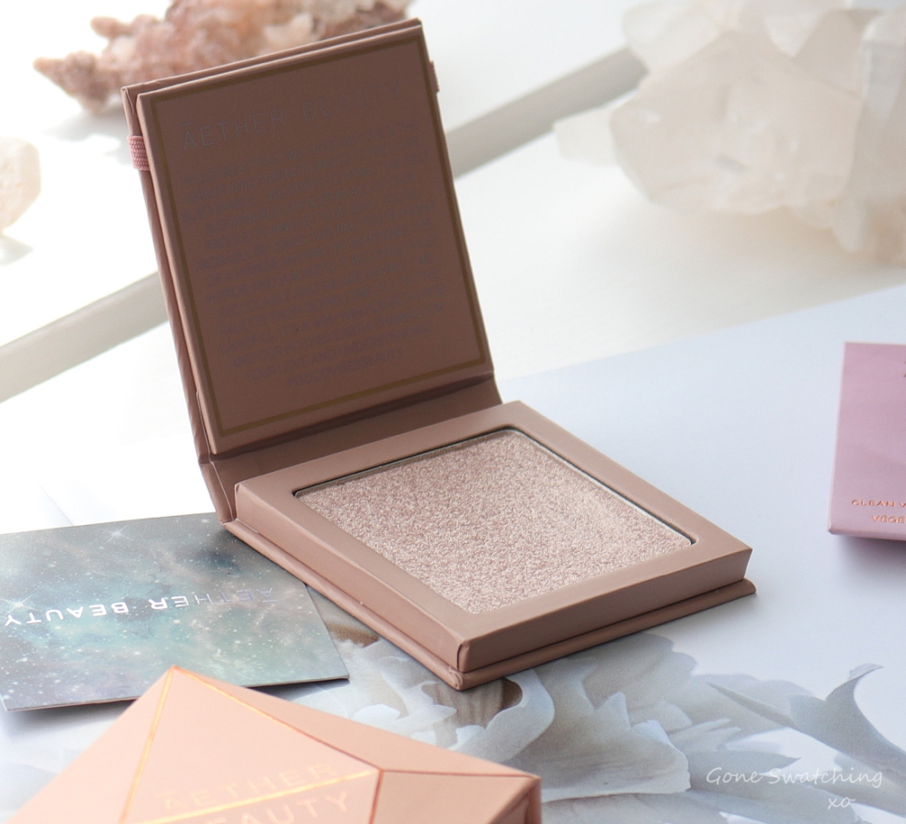 Athr Beauty Sustainable & Low Waste Beauty. Supernova Crushed Pure Diamond Highlighter Swatches & Review. Gone Swatching xo