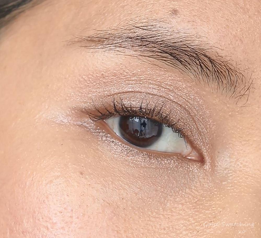 Rituel de Fille Ash & Ember Eye Soot Sigil. Eye swatch on Asian, warm medium skin tone. Australian Green, Natural Beauty Blogger Gone Swatching xo
