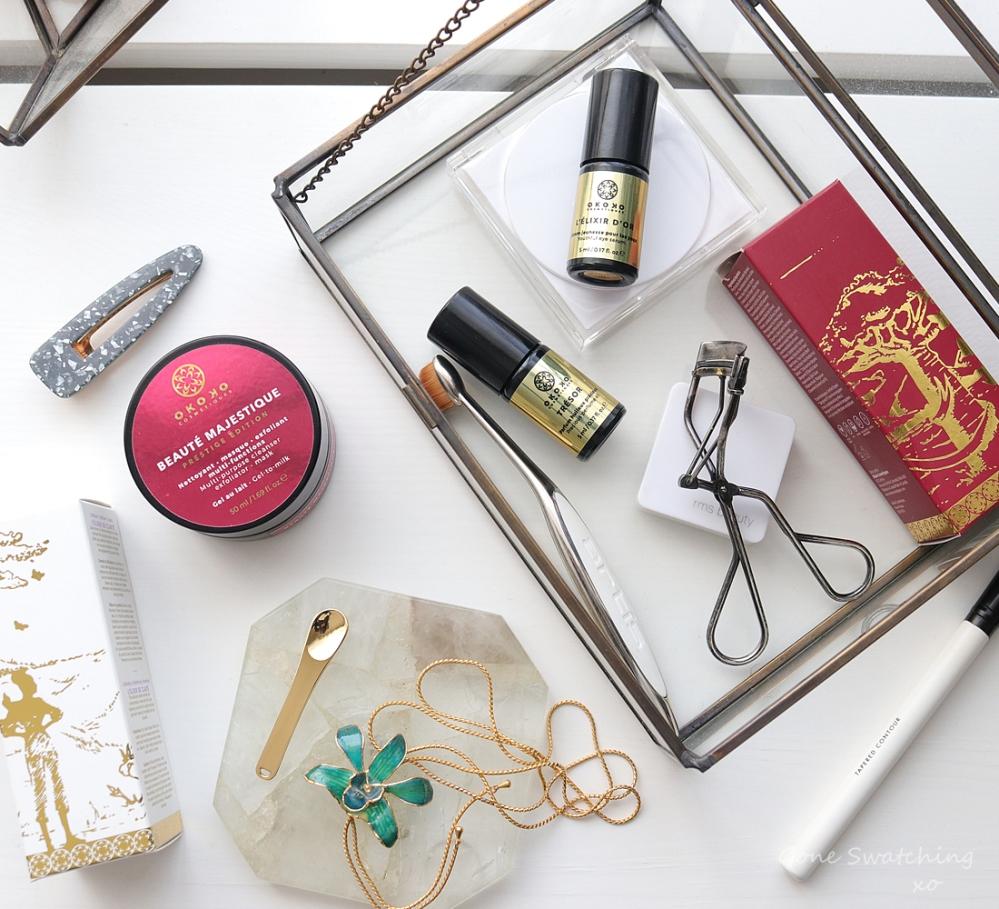 Okoko Cosmétiques Review - Beauté Majestique Cleanser & Exfoliant, Elixir D'Or Eye Serum & Trésor Perfume Oil. Green Beauty Blogger Gone Swatching xo
