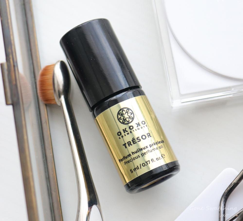Okoko Cosmétiques Review - Trésor Perfume Oil. Luxury Roll on Perfume. Gone Swatching xo