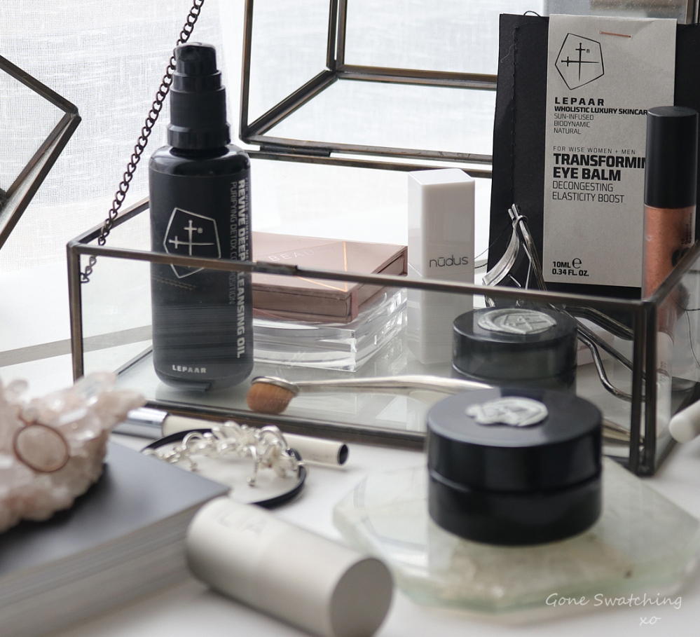 Lepaar Skincare Review. Revive Deep Cleansing Oil, Transforming Eye Balm & Serenity Evening Balsam. Green & Natural Beauty Blogger. Gone Swatching xo